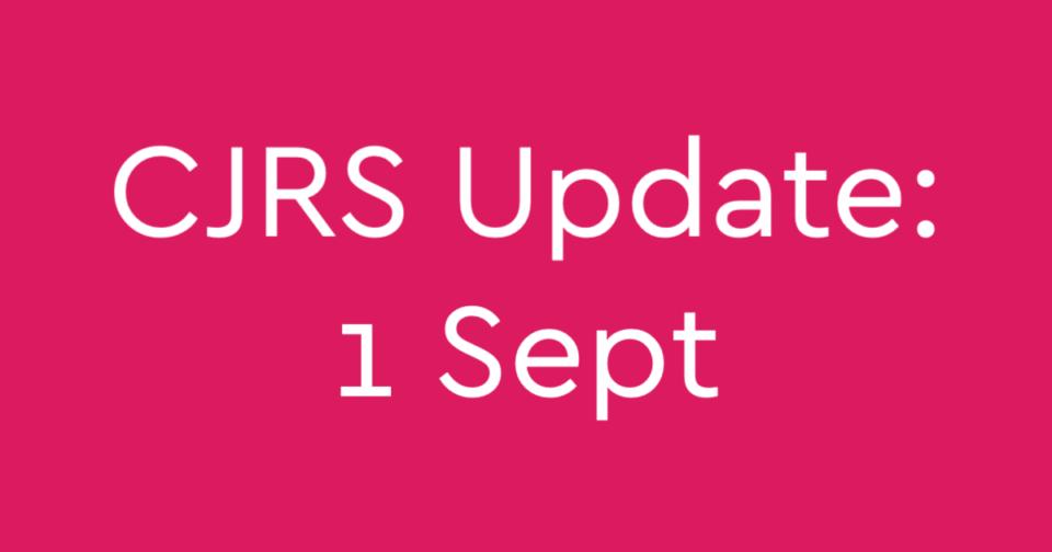 Coronavirus Job Retention Scheme changes from 1 Sept